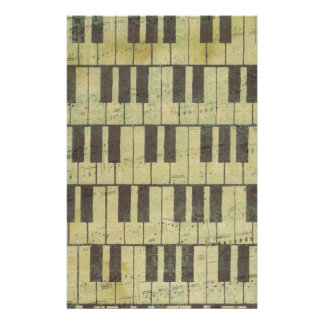 Piano Key Music Note Stationery
