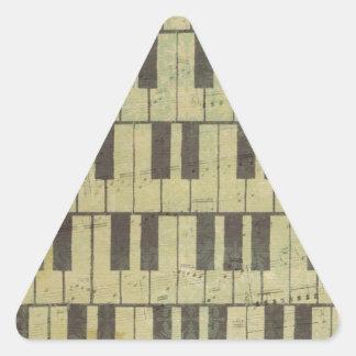 Piano Key Music Note Triangle Sticker