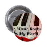 Piano key,Roses & Muisc notes_ Pins