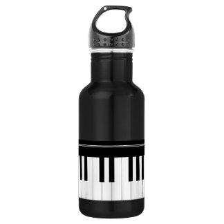 Piano keyboard 532 ml water bottle