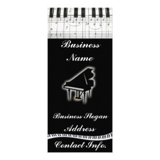 Piano Keyboard and Music Notes Rack Cards