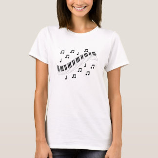 Piano Keyboard and Notes T-Shirt
