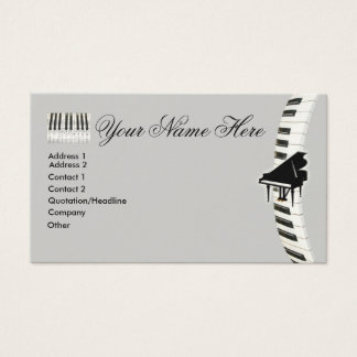 Piano Keyboard Business Cards