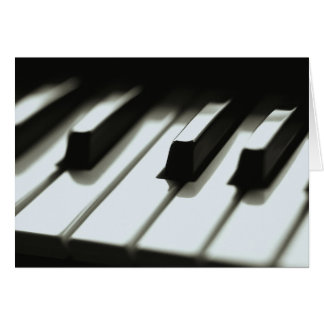 Piano Keyboard Card