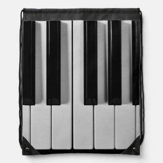 Piano Keyboard Custom Drawstring Backpack