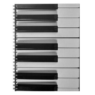 Piano Keyboard Custom Notebook