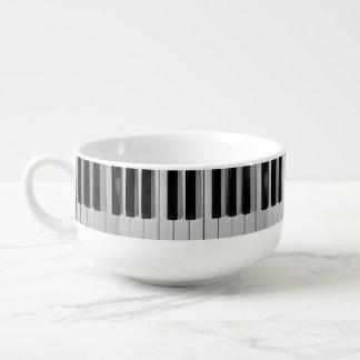 Piano Keyboard Custom Soup Mug