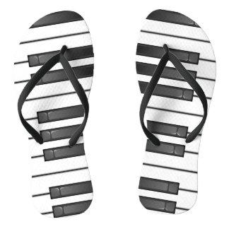 Piano Keyboard Design Flip Flops