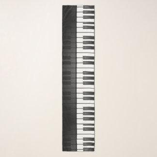Piano Keyboard Design Long Chiffon Scarf