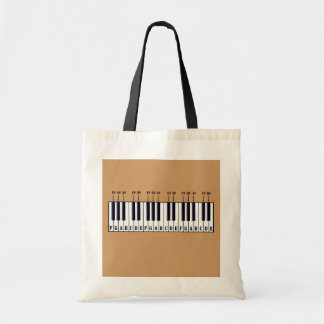 Piano Keyboard Diagram Tote Bags