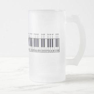 Piano Keyboard Diagram Mugs