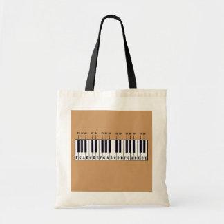 Piano Keyboard Diagram Tote Bag