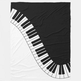 Piano Keyboard Fleece Blanket