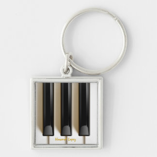 "Piano Keyboard ""Key"" Chain Key Ring"