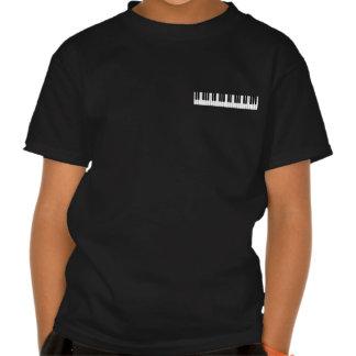 Piano Keyboard Kids Black T-shirt