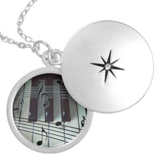 Piano Keyboard Locket Necklace