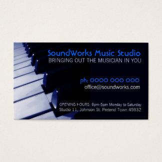 Piano Keyboard Music Business card