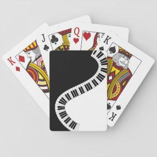 Piano Keyboard Musical Playing Cards