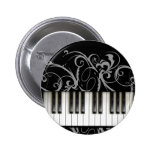 Piano Keyboard Pinback Buttons