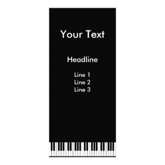 Piano Keyboard Rack Card