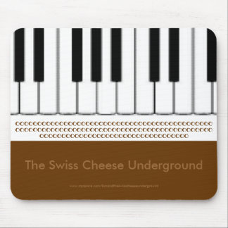 Piano Keyboard The Swiss Cheese Underground Mouse Pad
