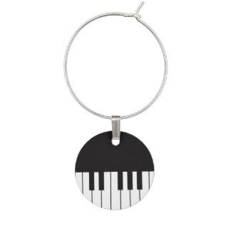 Piano Keyboard Wine Charm