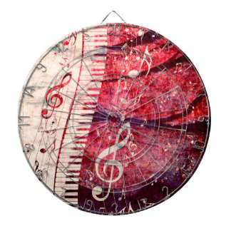 Piano Keyboard with Music Notes Grunge09 Dartboard