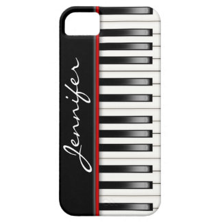 Piano Keyboard with name iPhone 5 Case