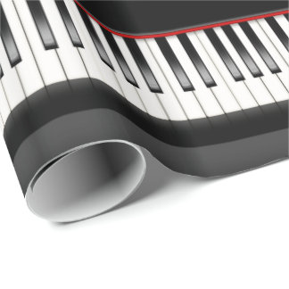 piano keyboard wrapping paper