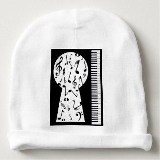 Piano Keyhole Baby Beanie