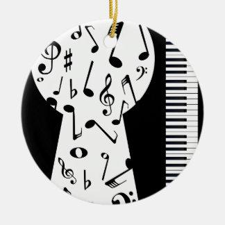 Piano Keyhole Ceramic Ornament