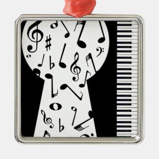 Piano Keyhole Metal Ornament