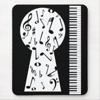 Piano Keyhole Mouse Pad