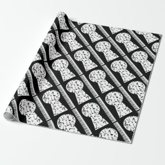Piano Keyhole Wrapping Paper