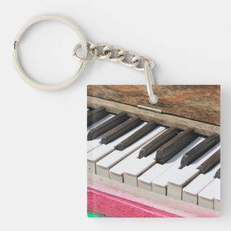 Piano Keys 2 Key Ring