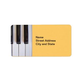 Piano Keys Address Label