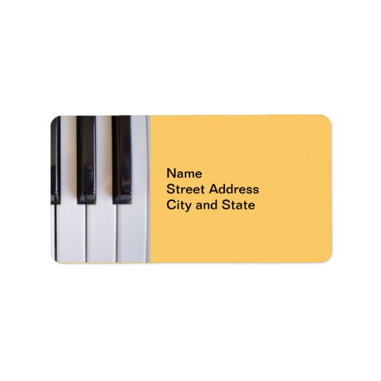 Piano Keys Address Label