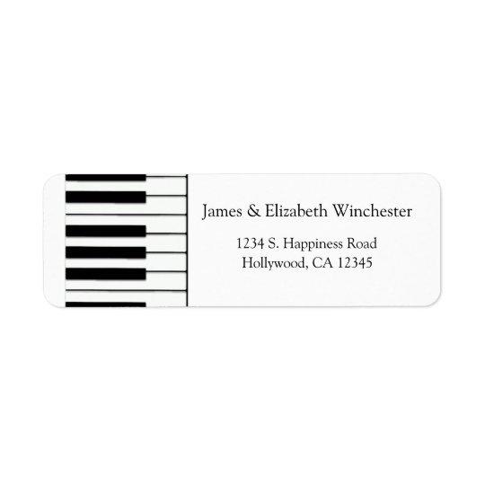 Piano Keys Address Labels