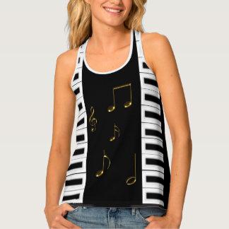 Piano Keys All-Over Print Racerback Tank Top
