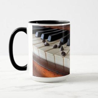 Piano keys and chocolate chips mug. mug
