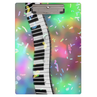 Piano Keys and Music Notes Clipboard