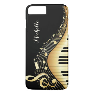 Piano Keys and Music Notes Custom iPhone Case