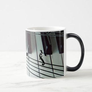 Piano Keys and Music Notes Magic Mug