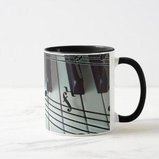 Piano Keys and Music Notes Mug