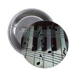 Piano Keys and Music Notes Pins