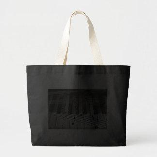 Piano Keys and Music Notes Jumbo Tote Bag