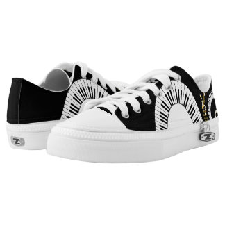 Piano Keys and  Musical Notes Low Tops