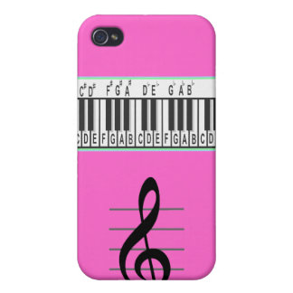 Piano Keys and Treble Clef Speck iPhone 4 Case