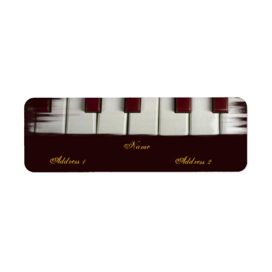Piano Keys Avery Label