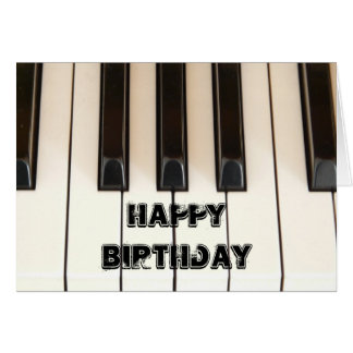 Piano Keys Card